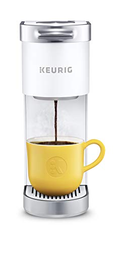 Keurig K-Mini Plus Coffee Maker, Single Serve K-Cup Pod Coffee Brewer, Comes With 6 to 12 oz. Brew Size, K-Cup Pod Storage, and Travel Mug Friendly, Matte White