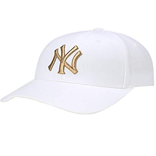 xiaochicun Gorra de béisbol MLB Classic NY con Bordado Gorra de Corea Blanca Ajustable