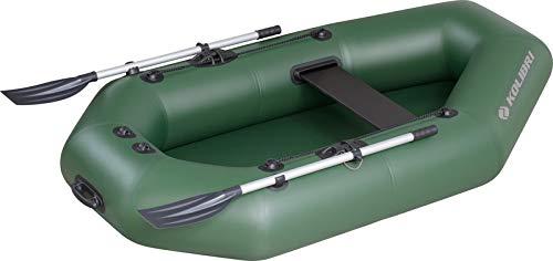 kolibri K-220-TS Schlauchboot mit Lattenrost - inkl. Heckspiegel, Transporttasche, Fuß-Luftpumpe & Reparatur-Set