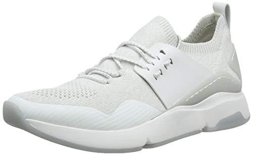 Cole Haan Zerogrand All-Day Trainer, Zapatillas para Mujer, Blanco (Optic White/Glacier Grey Knit/Optic White Leather/Optic White Optic White/Glacr), 38 EU