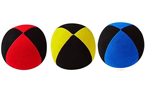 DiaboloNet Henrys Jonglierbälle Superior Medium rot-schwarz gelb-schwarz blau-schwarz