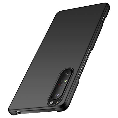 anccer Kompatibel mit Sony Xperia 1 II Hülle [Serie Matte] Elastische Schockabsorption & Ultra dünnes Handyhülle Design für Sony Xperia 1 II (Glattes Schwarzes)