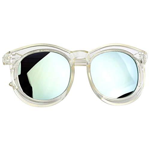 KESYOO Plastikspiegel Sonnenbrille Lustige Party Brille UV-Brille Kinder für Kleinkind Foto Prop Sommer Brille Spielzeug (Transparent Und Grün)