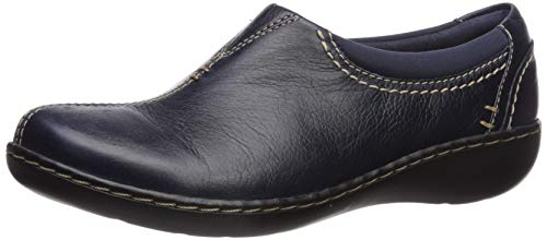Clarks Women's Ashland Joy Loafer, Navy Leather, 80 W US
