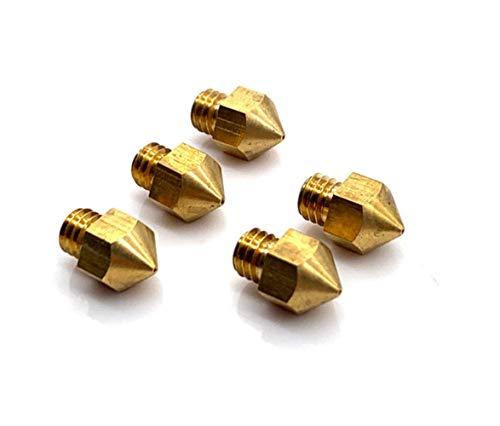 SHENYUAN-Printer accessories series 4Pcs MK7 MK8 Nozzle 0.4mm Copper 3D Printers Parts Extruder Threaded 1.75mm Filament Head Brass Nozzles 3d Printer Part (Size : 0.4MM 8PCS)
