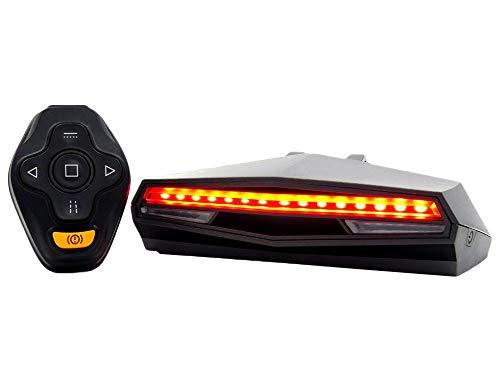 fuchsiaan Fahrrad Rücklicht LED Intelligente Blinker, USB IPX4 wasserdichte Bremslichter mit Wireless-Fernbedienung und Fahrradbeleuchtung für Mountainbike, Road Bike e Universalfahrrad