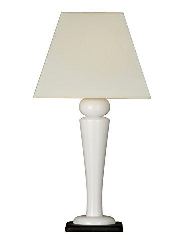 La lampe de Tableau, blanc de pied, écran connaît la lampe en bois Erzgebirge de lampe de 60 cm ENCORE