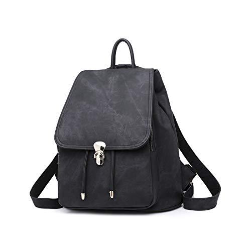 Teyun. Stilvoll und lässig Rucksack mit Seil-zieht Rucksack Doppel-Versicherung for Damen for jeden Anlass zu gehen (Color : Black)