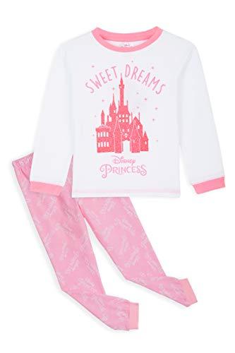 Disney Princess Pigiama A Maniche Lunghe Bambina in Caldo Cotone 2-14 Anni, Regali Originali (Rosa, 11-12 Anni)
