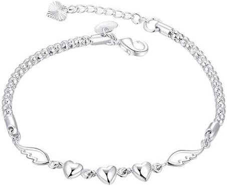 litymitzromq Bracelet Women's 925 Sterling Silver Charm Love Hea