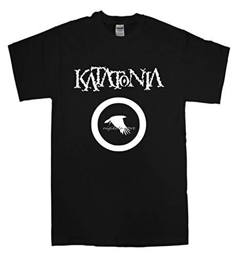 Katatonia T-Shirt New Black T Shirt Gothic Doom Metal Band Opeth Tiamat Short Sleeve T Shirts Man Clothing