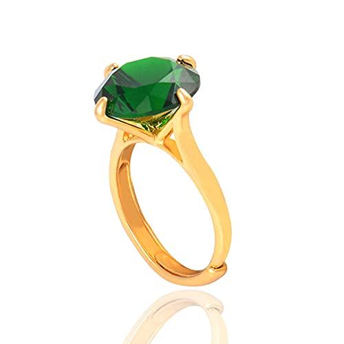 Anillos redondos de flores de oro de piedra para mujer, accesorios de tamaño de anillo ajustable, regalo de joyería