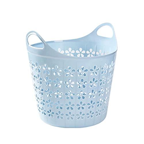 ZLZNX Cestos para la Colada Plegable Almacenamiento para Colada Cesta de lavandería con Asa Multifunción para Organización Ropa Juguetes,Azul