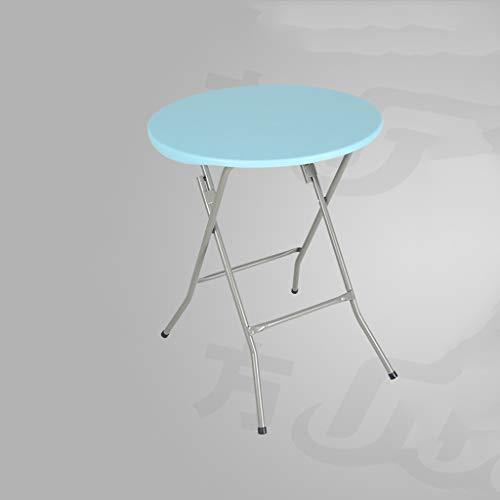 JIAHE115 klaptafel, eenvoudig, HJCA tafel van metaal + kunststof, opvouwbaar, rond, klein, voor thuis of op kantoor, eenvoudige tuintafel, kleur draagbaar en robuust