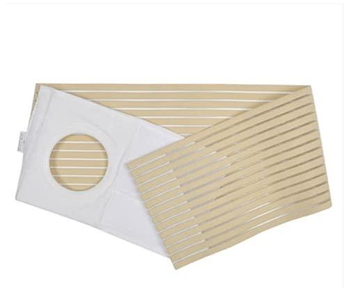 ¡La cinta grande de la ostomía previene la apertura de la apertura de la parástima y la colostomía elástica cinturón abdominal para los deportes! Fije las bolsas de ostomía y evite la hernia de la fie