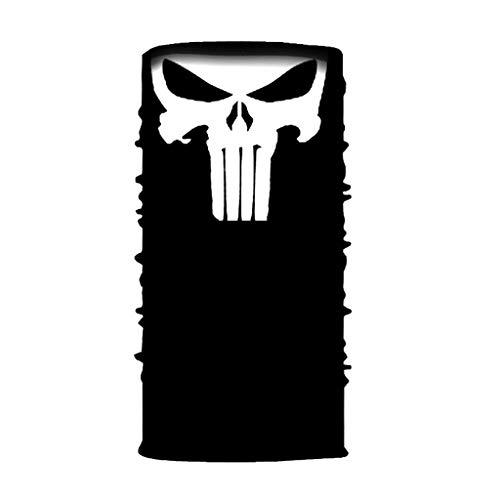 GEORGES Multifunktionstuch Halstuch in vielen verschiedenen Designs vielseitig einsetzbar | Sturmhaube | Schlauchschal | Stirnband | Piratentuch (Punisher)
