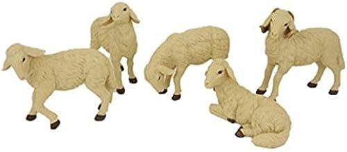 Miniatur Modell Figur Schafe 5tlg. H  22cm geeignet für 50-6cm Figuren