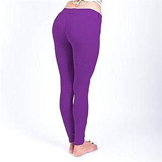 BEESCLOVER New Sport Leggings Patchwork Leggings Stitching High Elasticity Pants High Quality Yoga Leggings Fitness Running Yoga Leggings 6007 Purple L