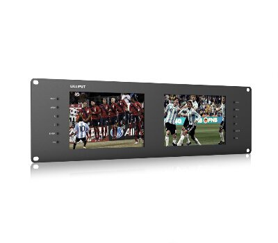 LILLIPUT RM-7028S Dual 7 Zoll 3RU Rack-Monitore mit Dual 7 Zoll IPS-Bildschirmen, Ansicht von SD, HD und 3G-SDI Video auf 3RU Rack-Monitor