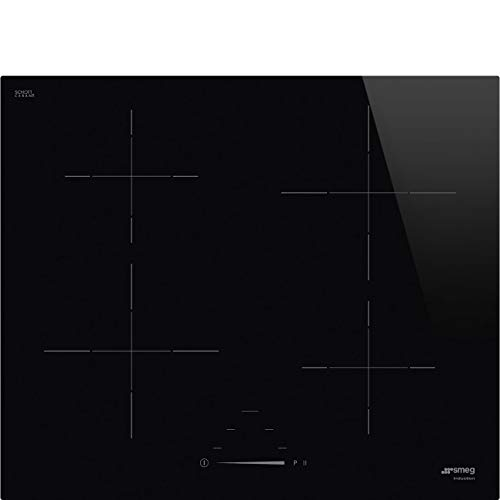 Smeg SI4642D Induction Hob 60 cm Power Limiter Option Black Adjustable Touch Slide Controls