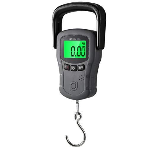 GFPR Digitale Handwaage mit, Genaues Gewicht von 50 kg Hohe Präzision Kofferwaage 2 AAA-Batterien (Ohne Akku)