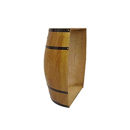 Barriles de vino de roble decorados, Barril de vino de madera maciza barril de cerveza, Tapa de medio cañón y decoración de pared con fondo de cañón, Bodega Bar Exposición Boda Fotografía Atrezzo