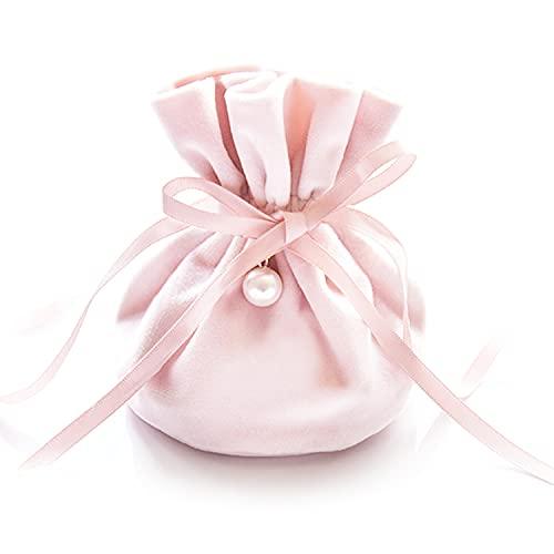 SeYou – Bolsa de regalo de terciopelo rosa 10 unidades, decorada con...
