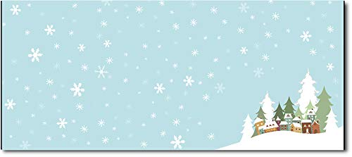 Christmas Envelopes #10 Letter Size - 80 Holiday Envelopes (Winter Village)