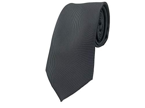 BUNCHERY & SONS handgefertigte 7,0 cm Satin Krawatte grau dunkelgrau graue schiefergrau graubraun anthrazit