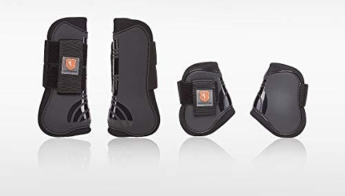 Horsecode Gamaschen 4er Set Protect schwarz warmblut