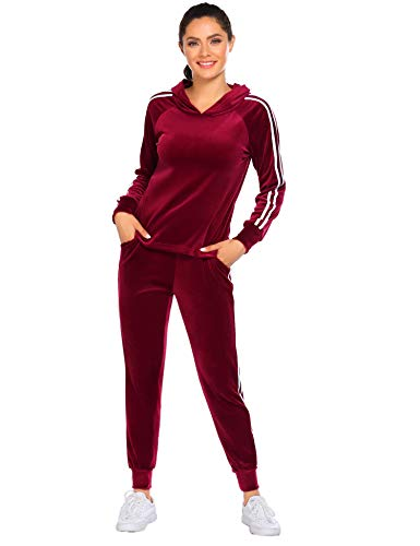HOTOUCH Women's 2 Piece Outfits Hoodie Long Sleeve Sweatshirt and Pants Set Tracksuit