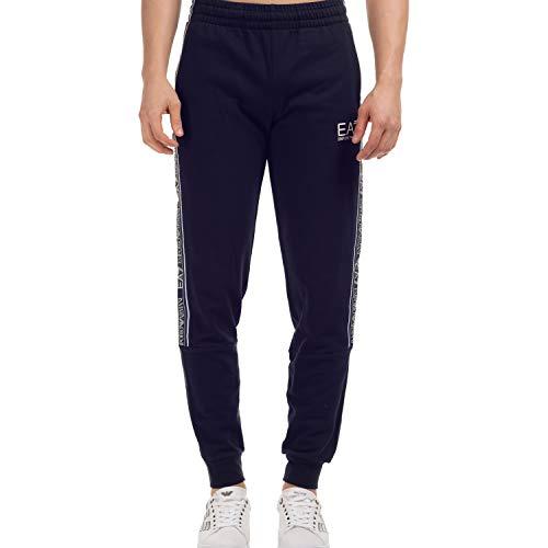 Emporio Armani EA7 3HPP61 - Pantalones de chándal de algodón para hombre, color azul marino