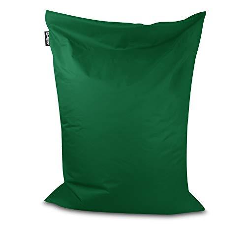 Sitzsack Beanbag rechteckige Bodenkissen 32 Farben & 4 Größen wählbar Indoor Outdoor Sitzsäcke Riesensitzsack Kindergarten Sitzkissen Schule Bean Bag ohne Rand (Dunkelgrün-100x70 cm)
