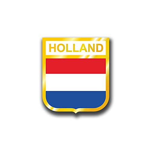 Aufkleber/Sticker Holland Niederlande Netherlands Fahne Flagge 7x6cm A1057