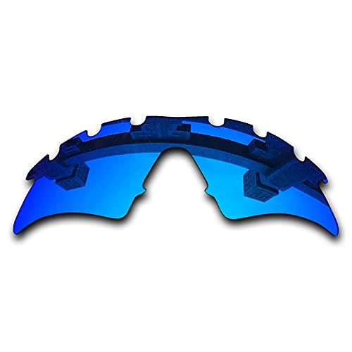 SYEMAX Lentes polarizadas de recolocación de espejo combinables con Oakley M Frame Sweep ventilado Sunglass - Azul hielo no polarizado