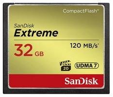 SanDisk SDCFXSB-032G-G46 - Tarjeta de Memoria Compact Flash de 32 GB (Velocidad de Lectura de 120 MB/s, Velocidad de Escritura de 85 MB/s, UDMA 7), Dorado