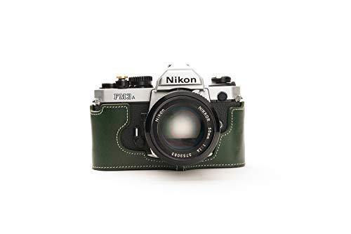 Zakao - Funda de Piel auténtica para Nikon FM3A, Hecha a Mano, con Correa de Mano