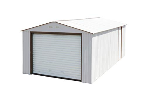 Duramax Imperial Metal Garage, 12 x 20, Off White with Brown