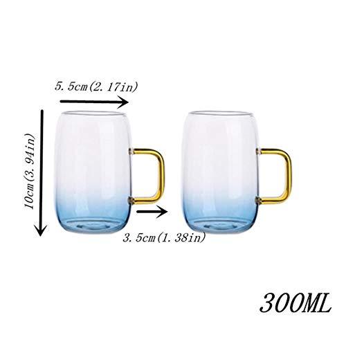 Miougioewq - Tetera de cristal de borosilica con tapa y asas doradas, para zumo de frutas, agua y café, tetera, hervidor de agua grande
