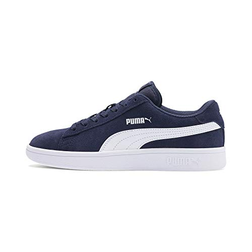 PUMA Unisex Kinder Smash v2 SD Jr Zapatillas, Peacoat White, 35.5 EU