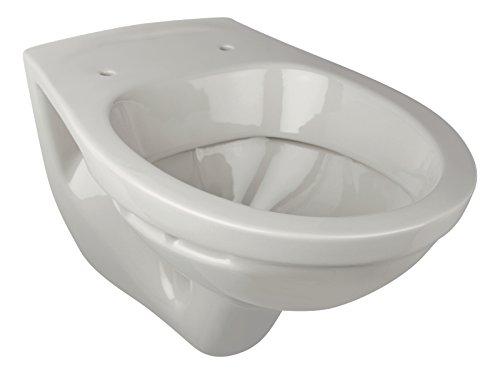 'aquaSu® Wand-WC | Tiefspüler | Manhattan | Grau | Toilette | Klo | Gäste-WC | Bad | Badezimmer | Keramik | Wand-WC | Hänge-WC