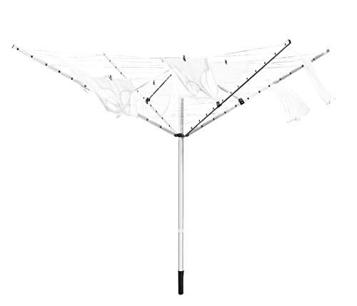 NEUN WELTEN Aluminium Stendibiancheria da Giardino con Spazio di Stenditura 50 m, Stendino Ombrello (50 m)