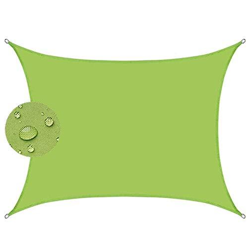 COUEO Rectangular Vela de Sombra 4x4m Resistente a la Intemperie Protección Solar Toldo Vela IKEA Kit de Montaje para Toldo para Jardín, Terraza, Camping, Verde