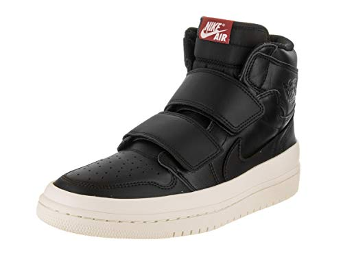 Nike Herren Air Jordan 1 Re Hi Double STRP Fitnessschuhe, Mehrfarbig (Black/Gym Red/Sail 001), 45 EU