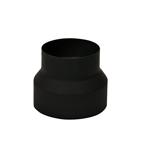 Kamino-Flam 331862 Reducción para Tubo de Estufa, negro, zum Anschluss von 150 mm in ein 130 mm Rohr