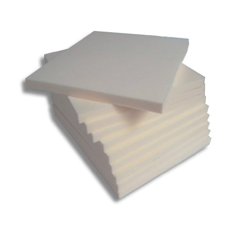 12 Sitzkissen Stuhlkissen Schaumstoffkissen Polster Auflage 45x45x4cm