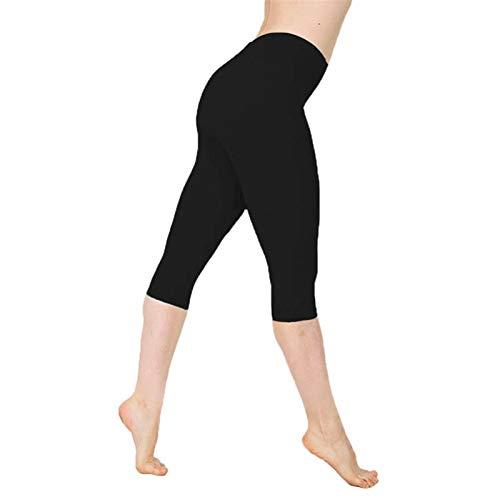 WANGJINQIAO Leggings sin Fisuras de Cintura Altas y Bajas Mujeres Deportes de Deportes de Mujer Leggings de Fitness Gym Girls Leggings Leggins Mujer (Color : Black, Size : XXXL)