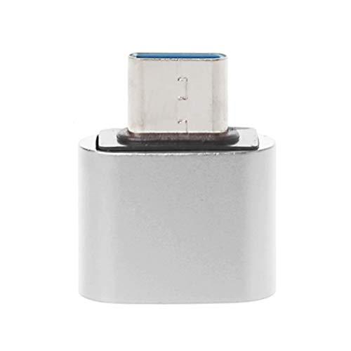 JUNDE Fhdjcn Metal USB C 3.1 Tipo C Macho a USB 2.0 Hembra Adaptador convertidor de sincronización de Datos OTG para Samsung S9 S8 Note 9/8 Huawei Mate 20/10/9 P20 P10 P9 Xiaomi 5/6/8 Mix