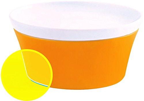 Kahla 32B195A72767C Magic Grip Auflauffrom mit Deckel aus Porzellan Ragout Fin Würzfleisch Förmchen 14 cm Pastetemfrom Backfrom Orange