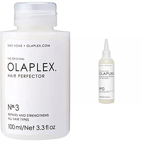 Olaplex Hair Perfector No 3 Repairing Treatment, 3.3 Ounce + No.0 Intensive Bond Building Treatment, 5.2 Fl Oz